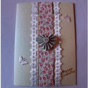 Birthday Card - Flowers and Butterflies