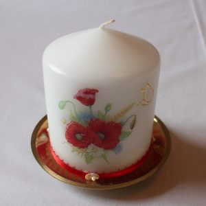 Small Candle - Poppies